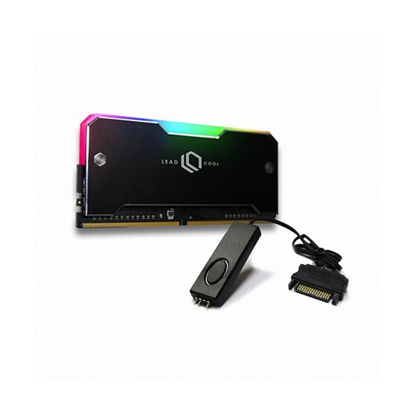 [LEADCOOL]  RH-1 ARGB 메모리 방열판 블랙 KIT(1PACK/Controller)