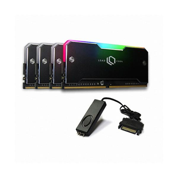 [LEADCOOL]  RH-1 ARGB 메모리 방열판 블랙 KIT(4PACK/Controller)