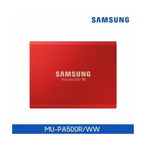 [삼성전자]  T5 Portable 500GB (레드)