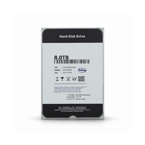 [Sebap]  Amigos HDD 8TB SM1800RS (3.5HDD/ SATA3/ 5400rpm/ 256MB/ PMR/ 리퍼비시)