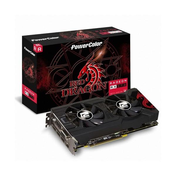 [PowerColor]  라데온 RX 570 OC D5 4GB 레드드래곤 백플레이트