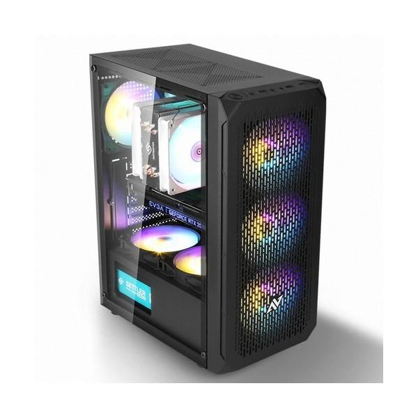 [ABKO] NCORE 식스팬 풀 아크릴 LUNAR RGB(블랙)