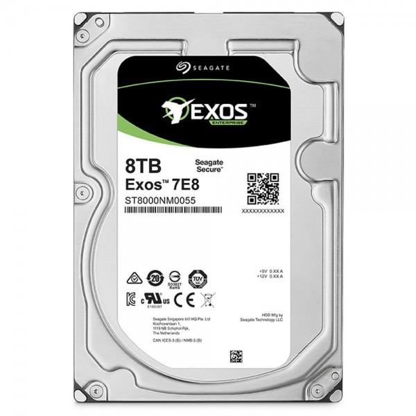 [SEAGATE]  EXOS HDD 3.5 SATA 7E8 8TB ST8000NM0055 (3.5HDD/ SATA3/ 7200rpm/ 256MB/ PMR)