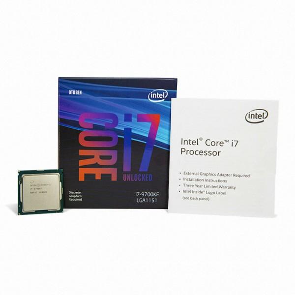 [인텔] 코어i7-9세대 9700KF (커피레이크-R) (병행수입 박스) (쿨러미포함)