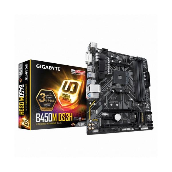 [GIGABYTE]  B450M DS3H 듀러블에디션 제이씨현 (AMD B450/M-ATX)