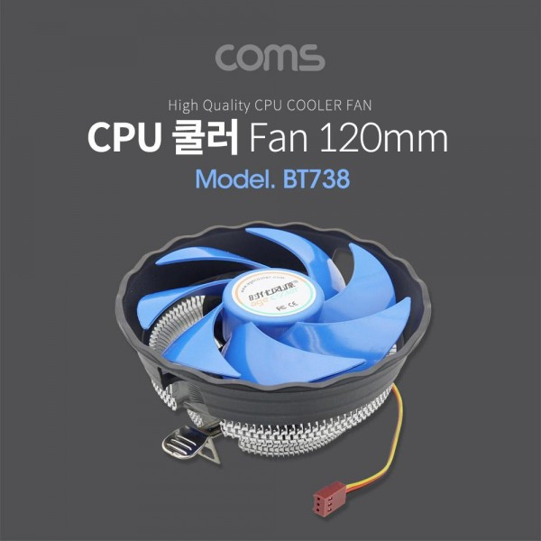 [Coms]  쿨러 CPU / 120mm / Intel LGA 775, 1150, 1155, 1156 / AMD 754, 939, AM2, AM2 , AM3 [BT738]