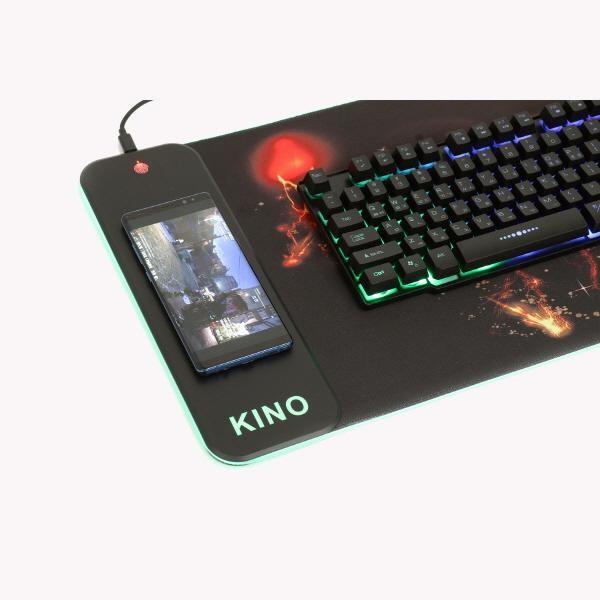 [KINO]  [KINO] 장패드, X30 GAMING LED 무선충전패드 [블랙/USB]