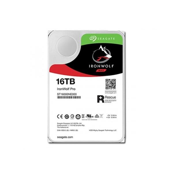 [SEAGATE]  IRONWOLF PRO HDD 16TB ST16000NE000 (3.5HDD/ SATA3/ 7200rpm/ 256MB/ PMR) + 구매시 박스테이프 1:1증정(소진시까지)