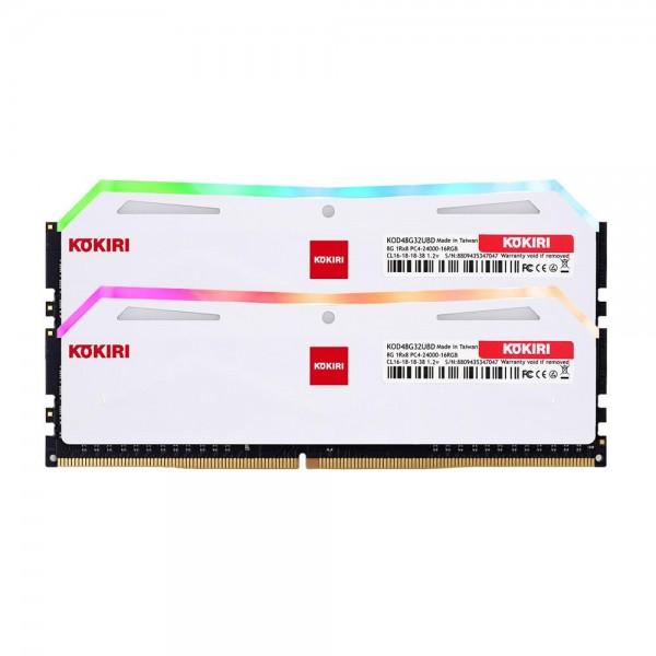 [디자인주식회사] 코끼리 코끼리 DDR4 16G PC4-24000-CL16 RGB (8Gx2) 화이트