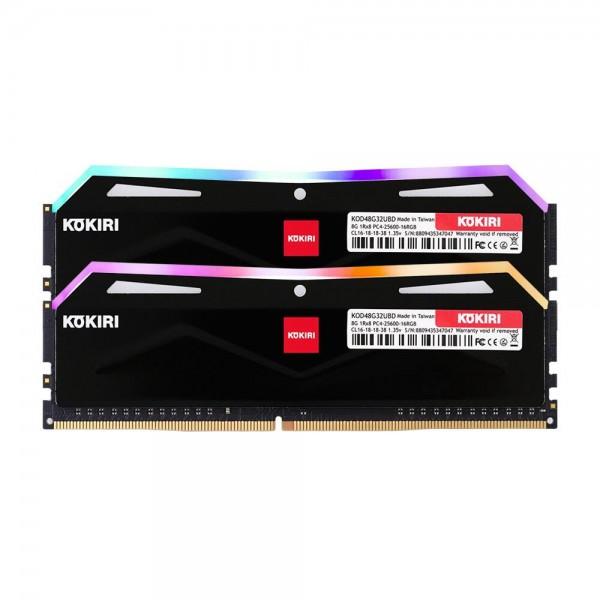 [디자인주식회사] 코끼리 코끼리 DDR4 16G PC4-25600-CL16 RGB (8Gx2) 블랙