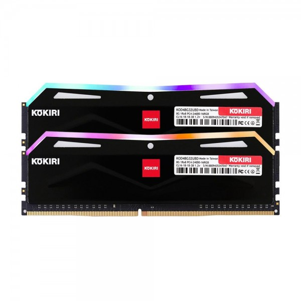 [디자인주식회사] 코끼리 코끼리 DDR4 16G PC4-24000-CL16 RGB (8Gx2) 블랙