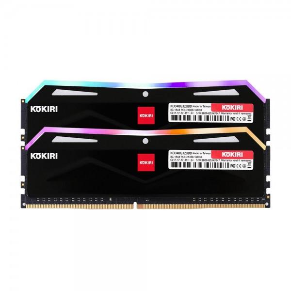 [디자인주식회사] 코끼리 코끼리 DDR4 16G PC4-21300-CL17 RGB (8Gx2) 블랙