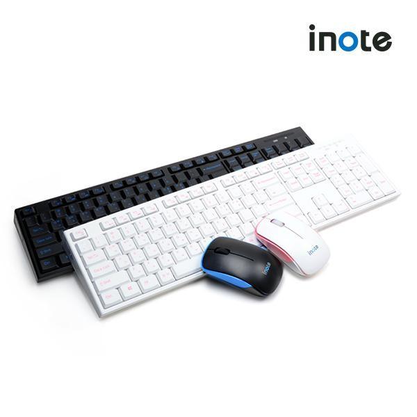 [퓨전FNC] iNote 무선 데스크탑 세트 FS-96319KM (화이트핑크)