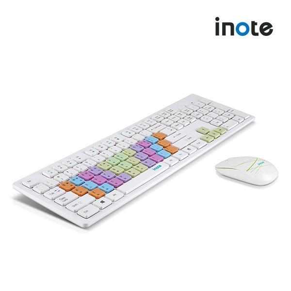 [퓨전FNC] iNote 무선 데스크탑 세트 FS-36816KM 화이트