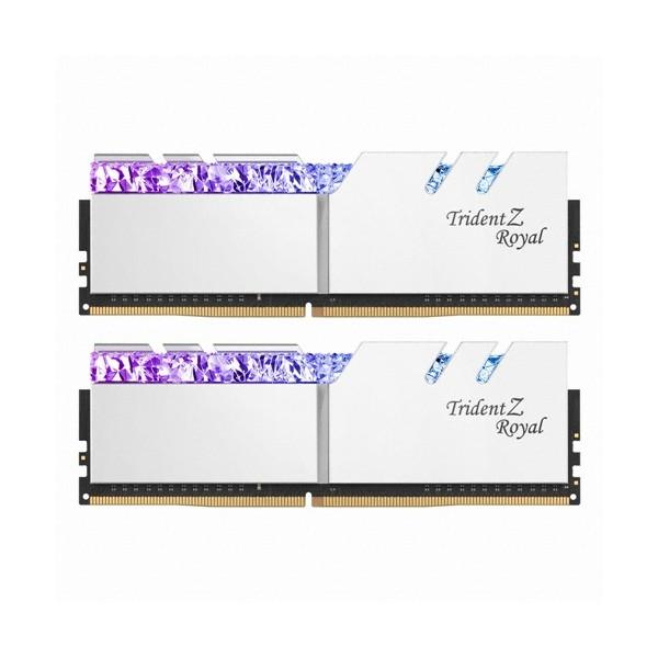 [G.SKILL]  [컴코블랙페스타]DDR4 16G PC4-25600 CL16 TRIDENT Z ROYAL 실버 (8Gx2)