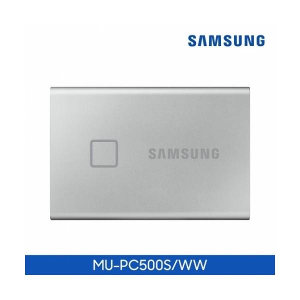 [삼성전자] 삼성SSD 포터블 T7 Touch USB3.2 Gen2 (500GB) 실버 + 파우치 증정