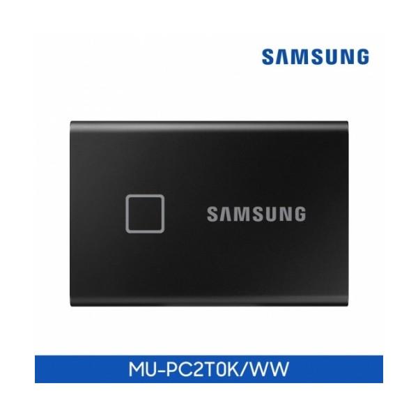 [삼성전자] 삼성SSD 공식인증 포터블 T7 Touch USB3.2 Gen2 (2TB) 블랙 + 파우치 증정