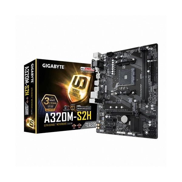 [GIGABYTE]  GA-A320M-S2H 듀러블에디션 제이씨현 (AMD A320/M-ATX)_벌크