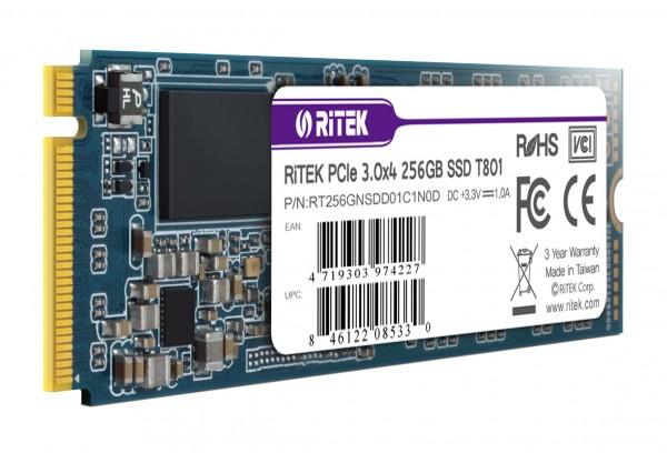 [RiTEK]  T801 M.2 2280 NVMe 256GB TLC