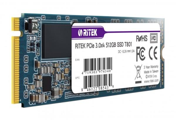 [RiTEK]  T801 M.2 2280 NVMe 512GB TLC
